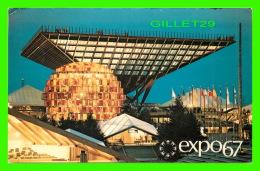 EXPOSITIONS - EXPO67, MONTRÉAL - LE PAVILLON DU CANADA - No EX202  - - Expositions