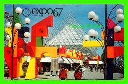 EXPOSITIONS - EXPO67, MONTRÉAL - VUE DE LA RONDE - No EX247  - ANIMÉE - CIRCULÉE EN 1967 - - Expositions