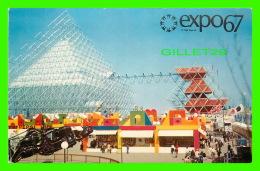 EXPOSITIONS - EXPO67, MONTRÉAL - LE GYROTRON - No EX248  - CIRCULÉE EN 1967 - - Expositions