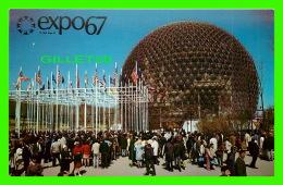EXPOSITIONS - EXPO67, MONTRÉAL - LE PAVILLON DES ETATS-UNIS -  No EX263  -  ANIMÉE - - Expositions