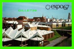 EXPOSITIONS - EXPO67, MONTRÉAL - VUE D'UN SECTEUR DE L'ILE NOTRE-DAME -  No EX266  - - Expositions