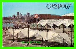EXPOSITIONS - EXPO67, MONTRÉAL - VUE D'ENSEMBLE DE L'ILE SAINTE-HELENE -  No EX235  - ANIMÉE - - Expositions