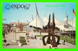 EXPOSITIONS - EXPO67, MONTRÉAL - LE PAVILLON DE LA REPUBLIQUE FEDERALE D'ALLEMAGNE -  No EX210  - ANIMÉE - - Expositions