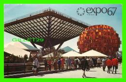 EXPOSITIONS - EXPO67, MONTRÉAL - LE PAVILLON DU CANADA -  No EX201 - CIRCULÉE EN 1967 - - Expositions