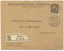 1793 - 30 Rp. BIT Einzelfrankatur Auf Orts-Einschreiben In GENÈVE - Dienstpost