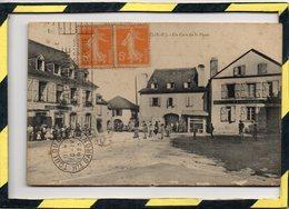 REBENACQ . - . UN COIN DE LA PLACE - Frankreich