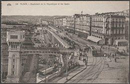 Boulevard De La République Et Les Quais, Alger, C.1910 - CAP CPA - Algiers