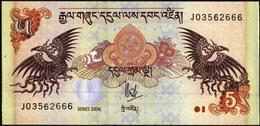 Banknote UNC  5  Ngultrum  2006  From Bhutan - Bhutan