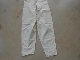 Pantalon Culotte Grand-père -  Coton Blanc - - He