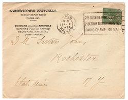 Enveloppe Laboratoire Nativelle Paris Depart 1924 - Postmark Collection (Covers)