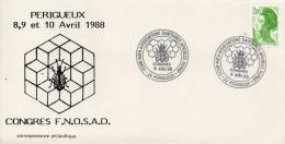 OT Sur Enveloppe : Fed. Nat. Ass. Sanitaires Apicoles -Abeilles (Périgueux En Dordogne-Périgord) Du 08-04-1988 - Matasellos Conmemorativos