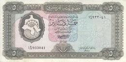 LIBYA 5 DINAR 1972 P-36b SIG/SHERLALA VF+ CRISP */* - Libye