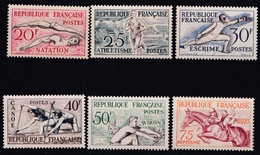 FRANCE JEUX OLYMPIQUES D HELSINKI  N° 960 à 965 NEUF**LUXE MNH - Frankreich