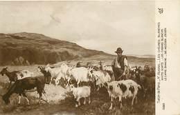 - Thèmes -ref-A557- Arts - Tableaux - Salon De Paris - Peintre  Hugrel - Chevres Blanches - Chevre - White Goats - Goat - Peintures & Tableaux
