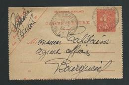 Carte Lettre Yvert N° 199 - Cl3  Oblitéré Cad Bureau De Distribution De Benais , Dpt 37 En 1934  Lm202 14 - Postal Stamped Stationery