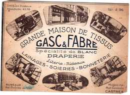 CPA TARN. CASTRES.GRANDE MAISON DE TISSUS.GASC & FABRE.MAGASINS RUE GAMBETTA - Castres
