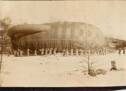 PHOTO ORIGINALE AEROSTATION AEROSTIERS - Oorlog, Militair