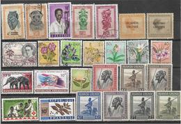 7Rr-796: Restje Van + 25 Zegels Waarvan Ook Wat Van Na De Onafhankelijkheid.... Om Verder Uit Te Zoeken... - Ruanda-Urundi