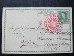 GANZSACHE Wien - Eggenburg Franz Josef Jubiläumskarte  1908 /// D*31564 - Briefe U. Dokumente