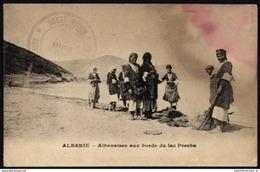 [000] Albanie / Albania – Albanaises Aux Bords Du Lac Presba, ~ 1915, Fleckig (200) - Albanien