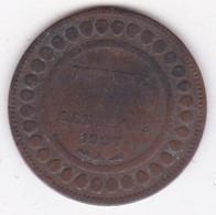 PROTECTORAT FRANCAIS. 5 CENTIMES 1907 A. BRONZE. - Tunisia