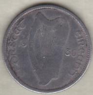 Irlande . 1 Shilling 1930 . Argent . KM# 6 - Ierland