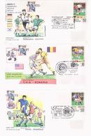 WORLD CUP, USA 1994, USA, SET COVERS FDC, LOT FDC  COVERS WORLD CUP 1994 USA - World Cup