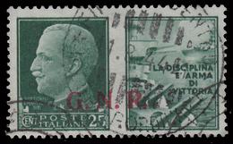 Italia: R.S.I. - PROPAGANDA DI GUERRA / G.N.R.: 25 C. Verde (I - Marina) - 1944 - 4. 1944-45 Repubblica Sociale