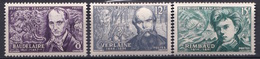 FRANCE POETES SYMBOLISTES   N° 908 / 909 /  910  NEUF**LUXE MNH - France