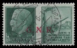 Italia: R.S.I. - PROPAGANDA DI GUERRA / G.N.R.: 25 C. Verde (II - Esercito) - 1944 - 4. 1944-45 Repubblica Sociale
