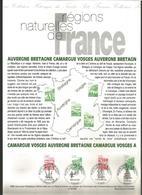DOCUMENT FDC 1995 REGIONS NATURELLES DE FRANCE - Géographie