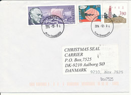 Sweden Cover Sent To Denmark 4-12-2014 Topic Stamps - Suède