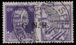 Italia: R.S.I. - PROPAGANDA DI GUERRA / G.N.R.: 50 C. Violetto (I - Marina) - 1944 - 4. 1944-45 Repubblica Sociale