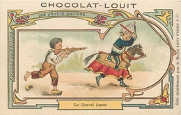 CHROMOS  Chromo Chocolat LOUIT  Jouets Anciens  Le Cheval Jupon 2scans - Louit