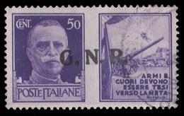 Italia: R.S.I. - PROPAGANDA DI GUERRA / G.N.R.: 50 C. Violetto (II - Esercito) - 1944 - 4. 1944-45 Repubblica Sociale