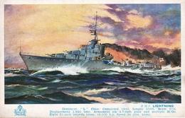 """A.F.D. Bannister  -  H.M.S. Lightning,  Destroyer """"L"""" Class   (WW2)   -   4903 - Guerra"""