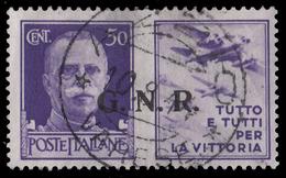 Italia: R.S.I. - PROPAGANDA DI GUERRA / G.N.R.: 50 C. Violetto (III - Aeronautica) - 1944 - 4. 1944-45 Repubblica Sociale