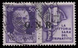 Italia: R.S.I. - PROPAGANDA DI GUERRA / G.N.R.: 50 C. Violetto (IV - Milizia) - 1944 - 4. 1944-45 Repubblica Sociale