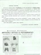 """582 """"ARTICOLI OTTICI-FOTOGRAFICI-GIACOMO CARBONE"""" - CARTOLINA  ORIG. NON SPEDITA - Pubblicitari"""