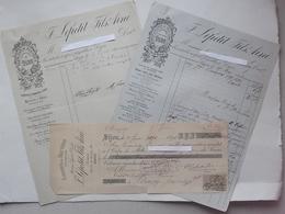 DIJON (21): Lot 2 Factures + 1 Mandat 1894 - Fabrique De Bluterie En Soie (farine) Tamis - LEPETIT Fils Rue Du Bourg - 1800 – 1899