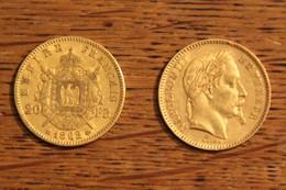 20 F Or Napoléon Lauré  1862 - K. 10 Francs