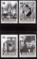 2001 Gibraltar - 200 Y Of Gibraltar Chronicle - Trafalgar, Churchil, Man On The Moon, Telephon  -4v MNH**  MI 972/975 - Gibraltar