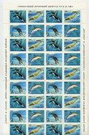SOVIET UNION 1990 Marine Mammals Complete Sheet With 10 Blocks Of 4 MNH / **.  Michel 61830-33 - 1923-1991 USSR
