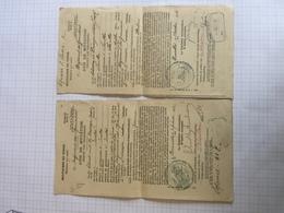 18E/1 -  Document Armée Belge Avis De Mutation Soldat Devroye Régiment Des Grenadiers Ixelles 1911-1912 Cachet Police - Old Paper