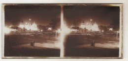 4  Photo Stereoscopique Exposition Coloniale  Feux D'artifice - Glass Slides