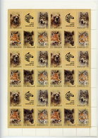 SOVIET UNION 1988 Zoo Fund Complete Sheet With 6 Blocks MNH / **.  Michel 5877-81 - 1923-1991 USSR