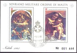 ORDEN VON MALTA 1983 Block Natale 1983 O Used - Malta (Orden Von)