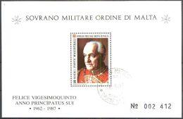 ORDEN VON MALTA 1987 Block Felice Vigesimoquinto 1987 O Used - Malta (Orden Von)