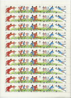SOVIET UNION 1990 Football World Cup Complete Sheet With 10 Strips MNH / **.  Michel 6088-92 - 1923-1991 USSR