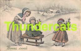 CPA ILLUSTRATEUR VK VIENNE 5327 ARTIST SIGNED ENFANTS NEIGE CHILDREN SNOW ART NOUVEAU - Vienne